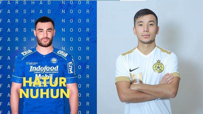 Farshad Noor (kiri) pada postingan Website Persib pada 27 April 2021 dan Farkhat Musabekov (kanan) pada postingan Instagram @musabekov21 pada 21 Agustus 2020. Calon Pengganti Farshad Noor di lini tengah Persib Bandung.