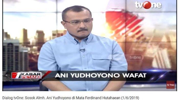 Kadiv Advokasi dan Bantuan Hukum DPP Demokrat Ferdinand Hutahaean membeberkan isi pesan terakhir antara dirinya dengan Ibu Negara ke-6 RI Ani Yudhoyono sebelum meninggal dunia.