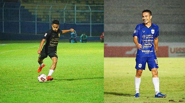 Finky Pasamba pada postingan Instagram @16finkypasamba pada 29 September 2021 (kanan) dan 10 April 2021 (kiri). 100 persen tinggalkan PSIS Semarang.