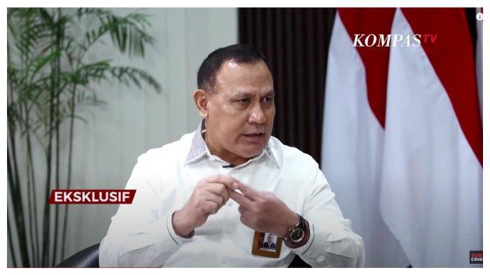 Ketua KPK Firli Bahur dalam acara AIMAN Kompas TV, Senin (14/6/2021). Firli Bahuri menyebut apa saja boleh dilakukan untuk mencegah korupsi.