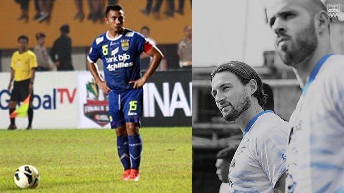 Firman Utina (kiri) pada postingan Instagram @Viking_pajampangan13 pada 23 April 2021 dan Klok-Rashid (kanan) pada postingan Instagram @marcklok pada 2 Juli 2021. Kreator serangan Persib Bandung pengganti Firman Utina.