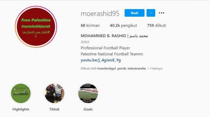 Semenjak bergabung ke Persib Bandung, pengikut Mohammed Rashid terus menunjukkan peningkatan yang signifikan.
