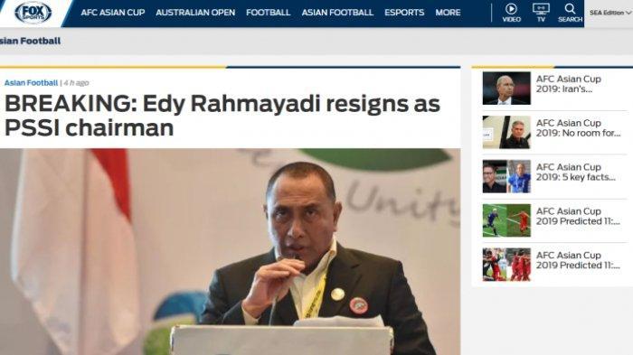Media Asing Ikut Soroti Kebijakan Edy Rahmayadi yang Mundur dari Kursi Ketum PSSI