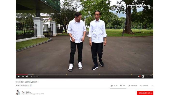 Gading Marten bertemu Presiden RI Joko Widodo (Jokowi) di Istana Negara.