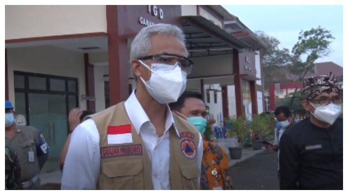 Momen Ganjar Pranowo Geram pada Mahasiswa Positif Covid-19 yang tak mau pakai masker, Sabtu (3/7/2021).