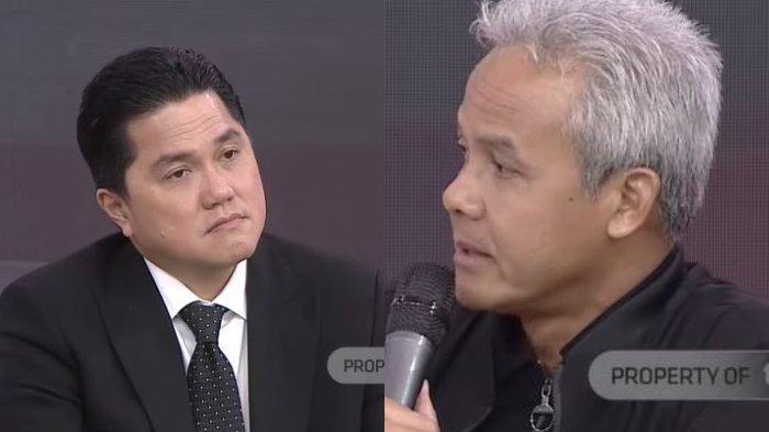Secara Langsung, Ganjar Pranowo Akui Kaget Erick Thohir Jadi Menteri BUMN: Weh Ini