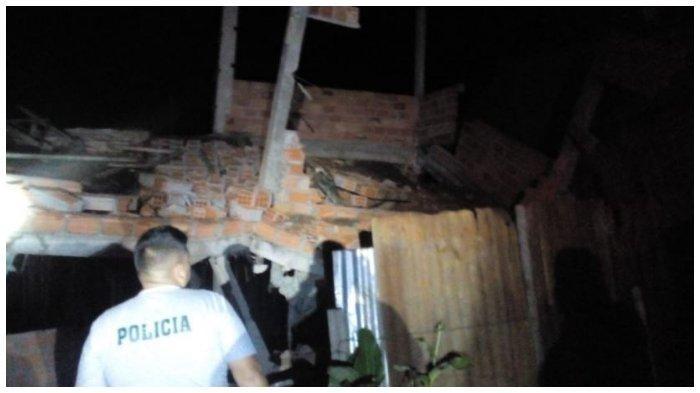 Dampak Gempa berkekuatan 8 skala richter yang telah melanda Peru utara.