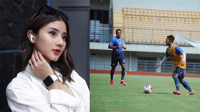 Gheayoubi kekasih Gian Zola (kiri) pada postingan Instagram @gheayoubi pada 1 Mei 2021 dan Gian Zola (kanan) pada postingan Instagram @gianzolaanasrullohnugraha pada 24 Mei 2021. Gian Zola telah kembali berlatih bersama Persib Bandung.
