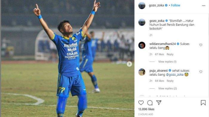 Ghozali Siregar umumkan pamit dari Persib Bandung, pada Rabu (24/2/2021).