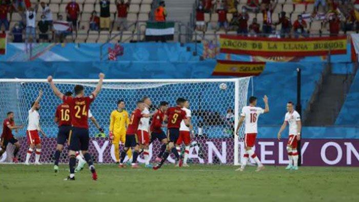Hasil EURO 2020: Alvaro Morata Bawa Spanyol Ungguli Swedia di Babak Pertama, Live Streaming Mola TV