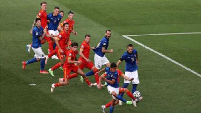 Hasil EURO 2020: Italia Unggul Tipis 1-0 atas Wales di Babak Pertama, Gol dari Matteo Pessina