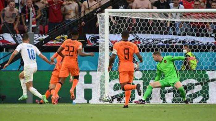 Update Skor Belanda Vs Ceko EURO 2020, Patrik Schick Gandakan Keunggulan 0-2, Live Streaming Mola TV