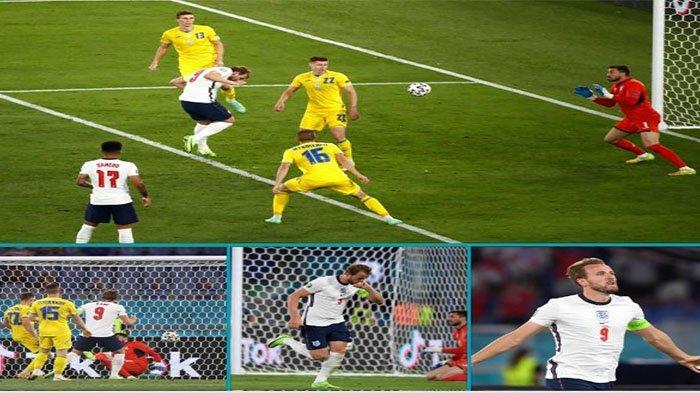 Gol kedua Harry Kane ke gawang Ukraina pada Website UEFA Minggu (4/7/2021).
