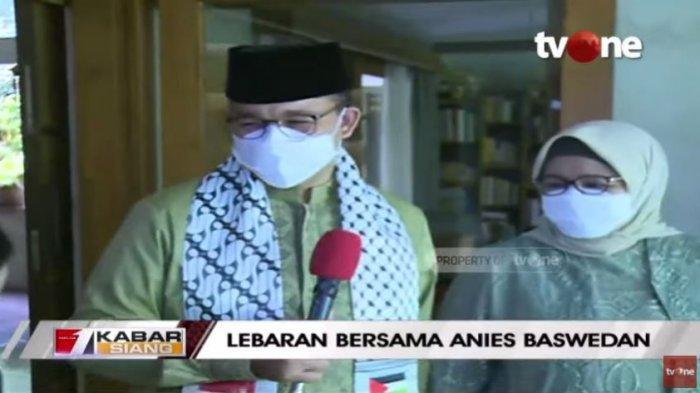 Gubernur DKI Jakarta Anies Baswedan dan keluarga merayakan lebaran di rumah, Kamis (12/5/2021).