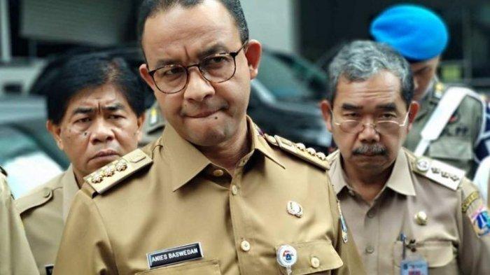 Gubernur DKI Jakarta Anies Baswedan di Hotel Sari Pan Pacific, Senin (12/3/2018).