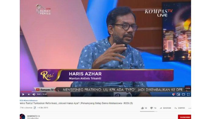 Rosi Singgung Demo Ingin Jatuhkan Jokowi, Haris Azhar: Itu dari Mantan 02, Bukan dari Mahasiswa