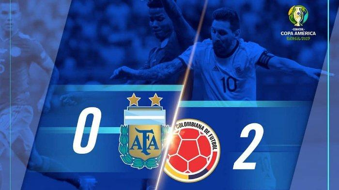 Hasil Copa America 2019 Argentina Vs Kolombia: Lionel Messi cs Ditaklukan Los Cafeteros