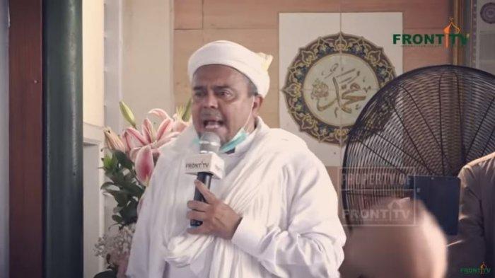 Habib Rizieq Shihab di Markaz Syariah Petamburan, Jakarta, Rabu (11/11/2020). Habib Rizieq menitipkan pesannya kepada pejabat di Indonesia.