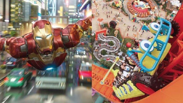 Berbagai macam wahana tersedia di Disneyland Hong Kong.