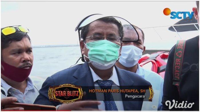 Hotman Paris Hutapea dalam kanal YouTube Surya Citra Televisi (SCTV), Selasa (8/12/2020). Hotman membongkar curhatan Gisel soal video syur mirip dirinya.