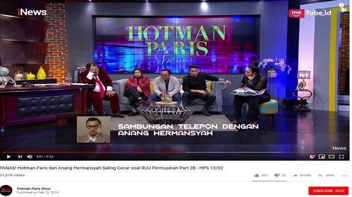 Debat Panas dengan Anang Hermansyah, Hotman Paris sampai Garuk-garuk Kepala dan Teriak