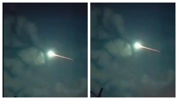 Benda bercahaya mitip meteor muncul di langit Probolinggo, videonya viral di FB