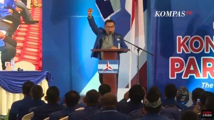 Pidato Perdana Moeldoko Usai Terpilih Jadi Ketum Demokrat Versi KLB Deli Serdang, Jumat (5/3/2021).