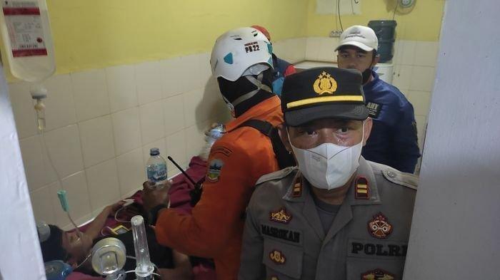 Muhammad Gibran Arrasyid saat dirawat di Puskesmas Tarogong setelah ditemukan di Gunung Guntur, Jumat (24/9/2021).