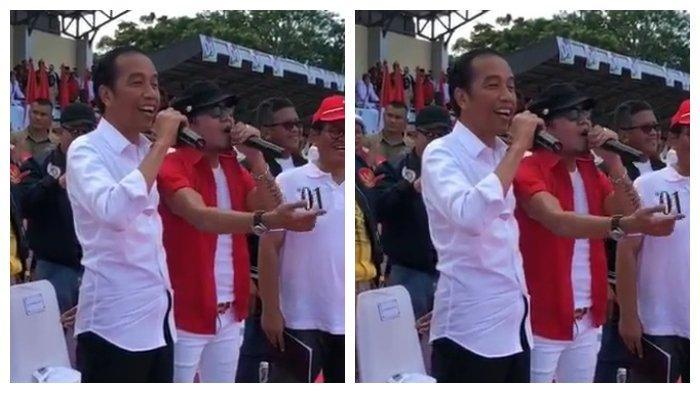 Duet Maut Jokowi dengan Ian Kasela Disambut Tawa dan Tepuk Tangan Riuh Penonton