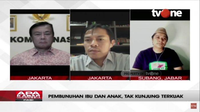 Krimonolog, Ikrak Sulhin, Benny Mamoto sebagai Ketua Harian Kompolnas dan Yoris dalam wawancara dengan TV One pada Sabtu (25/9/2021).