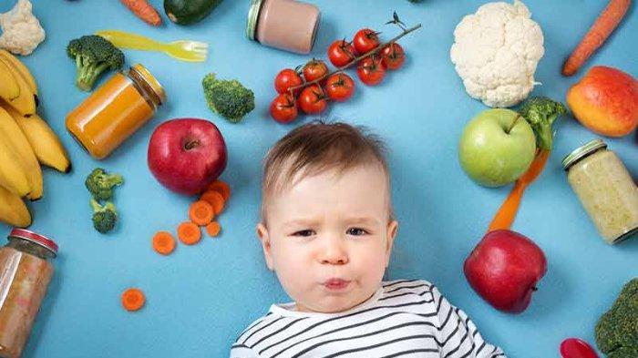 Ilustrasi makanan sehat untuk bayi.