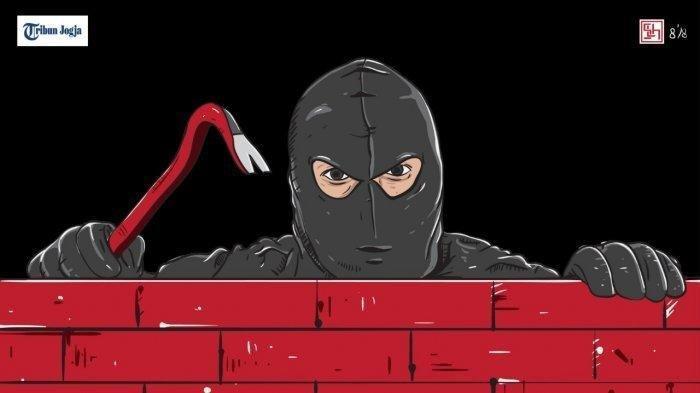 Ilustrasi pencurian. Pemuda bernama Adrian Maulana alias Baddiong asal Luwu Utara, Sulawesi Selatan kini diduga telah melakukan pencurian di sejumlah titik.