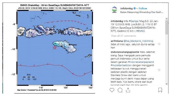 Gempa Berskala 6,7 di Sumba Barat, Nusa Tenggara Timur Terasa Hingga Bali
