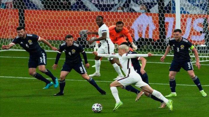 Laga matchday kedua grup D antara Inggris Vs Skotlandia berakhir imbang di banak pertama 0-0 pada 19 Juni 2021.