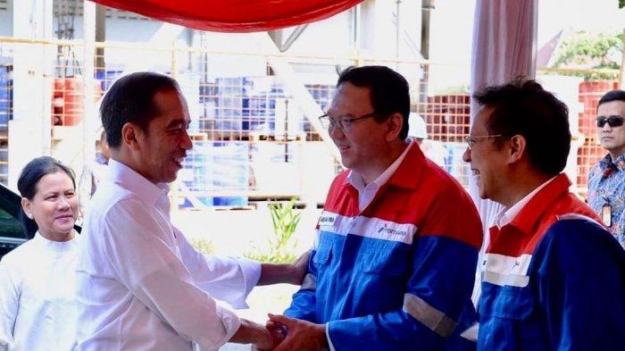 Pertemuan Presiden RI Joko Widodo dengan Komut Pertamina Ahok, 21 Desember 2019