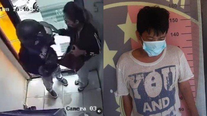 Viral Terekam CCTV, Pria di Banjarmasin Ngaku Spontan Rampok 2 Wanita karena Mau Obati Luka