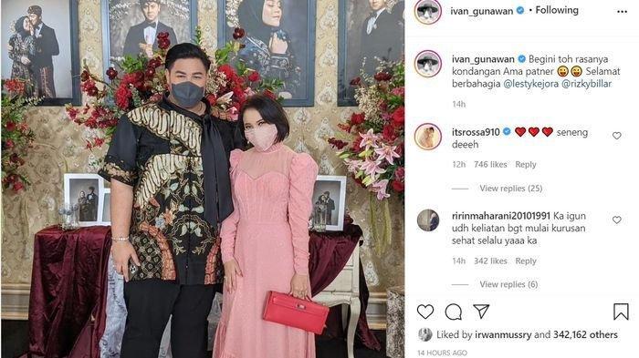 Ivan Gunawan gandeng Rossa di acara tasyakuran Rizky Billar dan Lesti Kejora