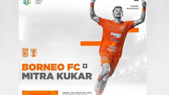 Live Streaming Liga 1 Indonesia: Borneo FC Vs Mitra Kukar Pukul 18.30 WIB di O Channel