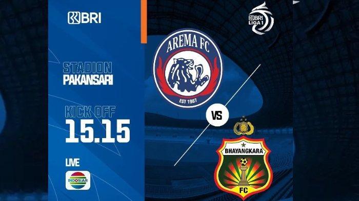 LIGA 1 2021: Tonton Duel Arema FC Vs Bhayangkara FC, Link Live Streaming TV Online dan Vidio.com