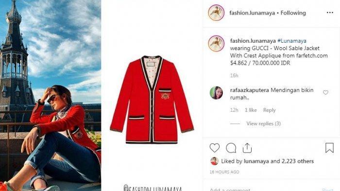 Unggahan Instagram @fashion.lunamaya