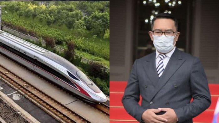 Jakarta-Bandung Hanya 40 Menit, Ridwan Kamil Sebut Proyek Kereta Cepat Kelar 2022: Sudah 70an Persen