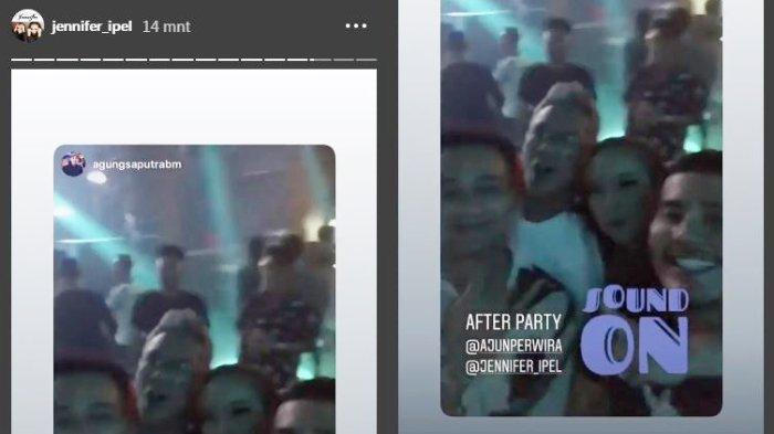 Jennifer Supit mengunggah video saat party dengan Ajun Pewira.