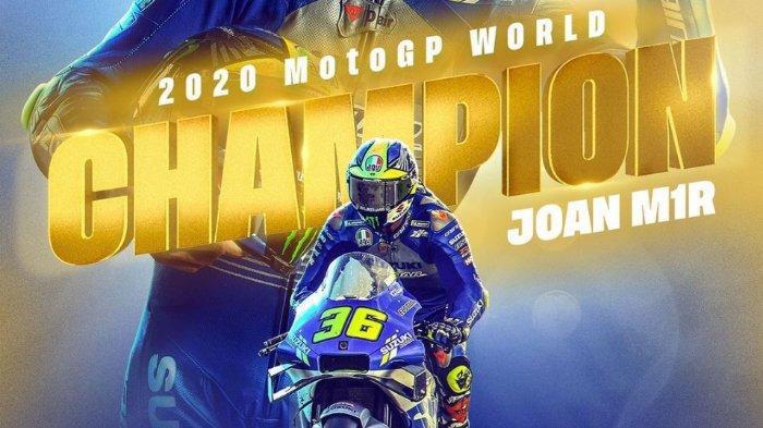 Penantian 20 Tahun Suzuki Berakhir Berkat Joan MirRaih Gelar Juara Dunia MotoGP 2020