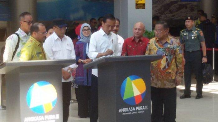 Resmikan Bandara Depati Amir, Jokowi Targetkan Pengembangan Bandara Rampung 2020