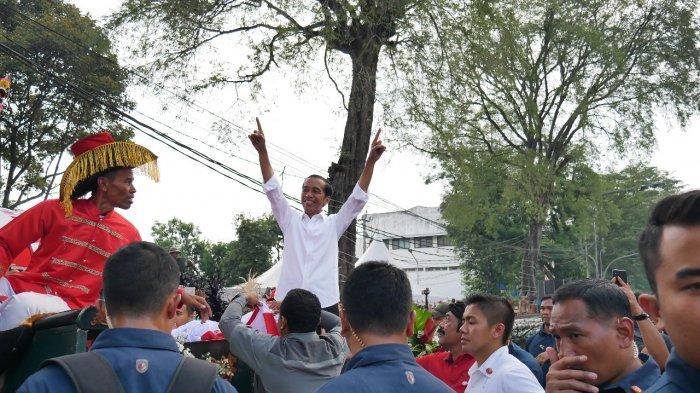 Joko Widodo (Jokowi) saat Kampanye Akbar di Solo, Selasa (9/4/2019).