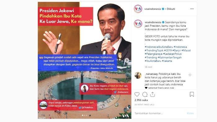 Jokowi akan mewujudkan gagasan besar dari mantan Presiden, Ir. Soekarno atau biasa dipanggil Bung Karno, Selasa (30/4/2019).