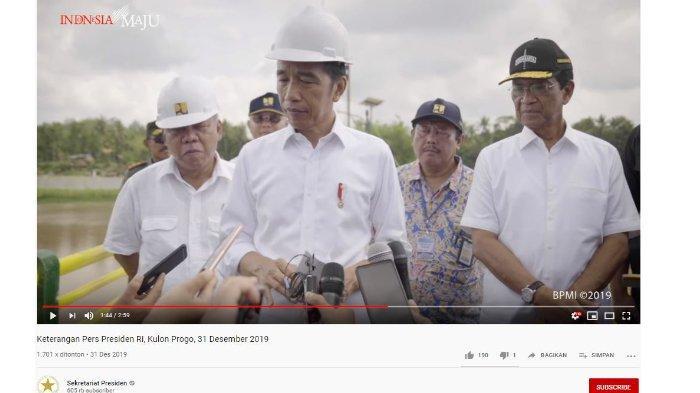 Resmikan Bendungan Kamijoro di Kulon Progo, Jokowi Ungkap Kegiatannya saat Tahun Baru