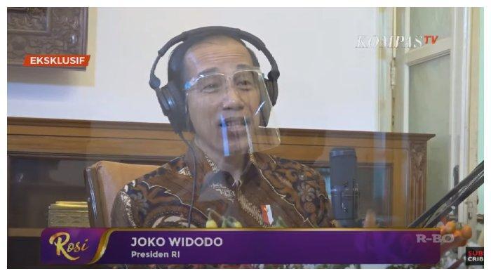 Presiden Joko Widodo (Jokowi) buka suara terkait keberadaan dirinya ketika terjadinya aksi demo besar-besaran menolak Omnibus Law UU Cipta Kerja, dalam acara Rosi 'KompasTV', Senin (16/11/2020).