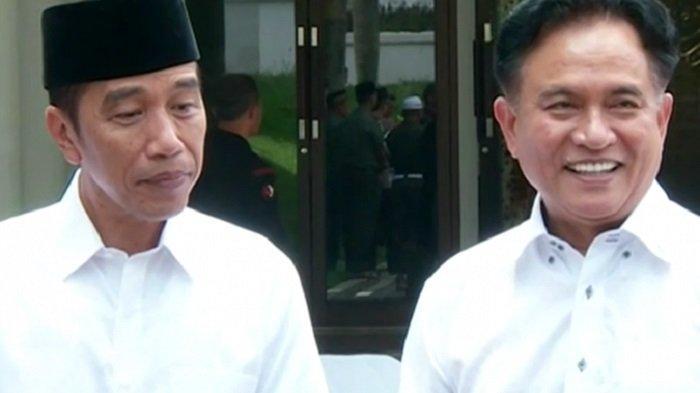 Jokowi Berikan Senyum Sumringah saat Temui Yusril Ihza Mahendra, Sebut Kawan Lama