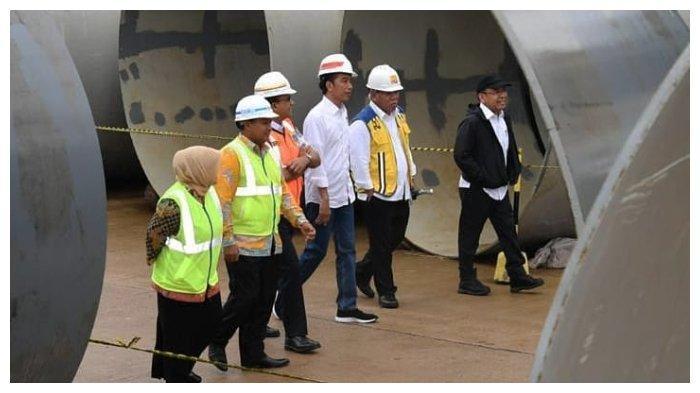 Tinjau Proyek Bendungan di Bogor, Jokowi: Kita Selesaikan Masalah Banjir Jakarta dari Hilir ke Hulu